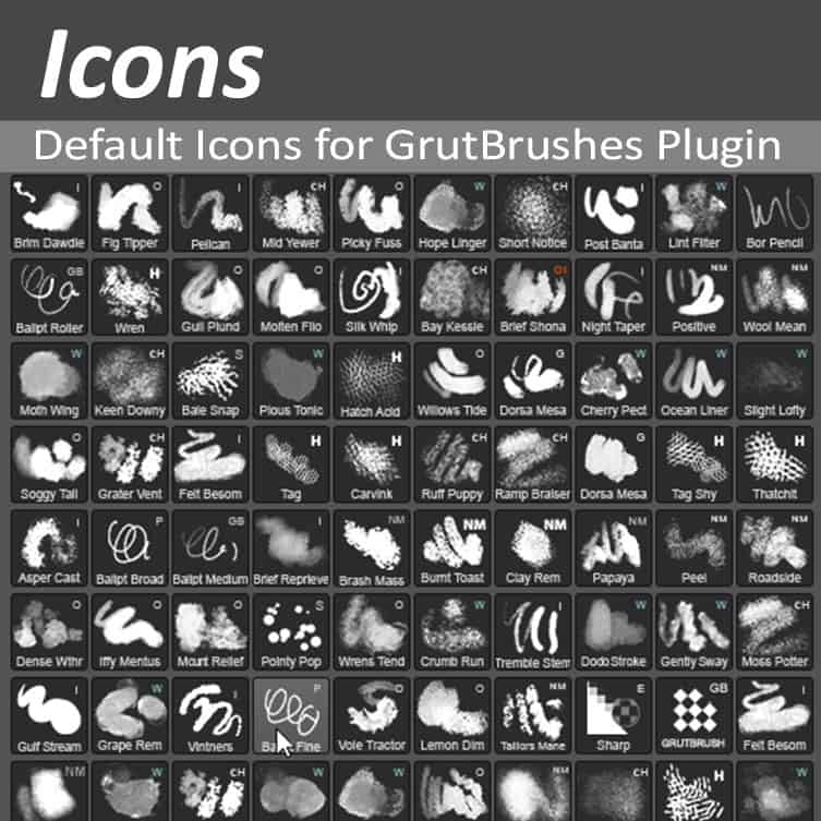 Default Icon set for GrutBrushes Plugin Extension