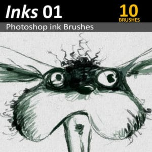 Download 10 Photoshop ink brushes for Digital Artists