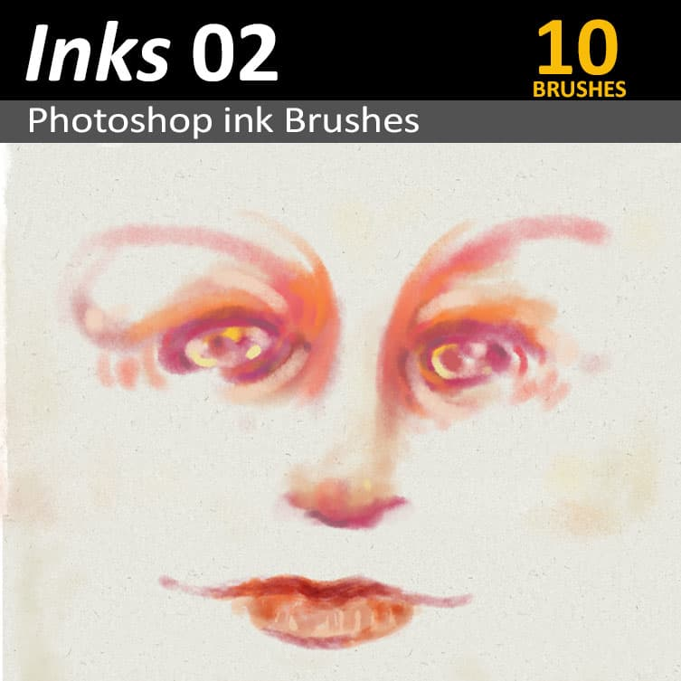 10 Photoshop Ink Brushes for Digital Artists