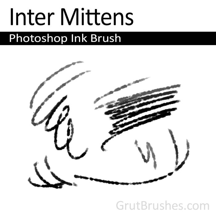 'Inter Mittens' Photoshop ink brush for digital painting