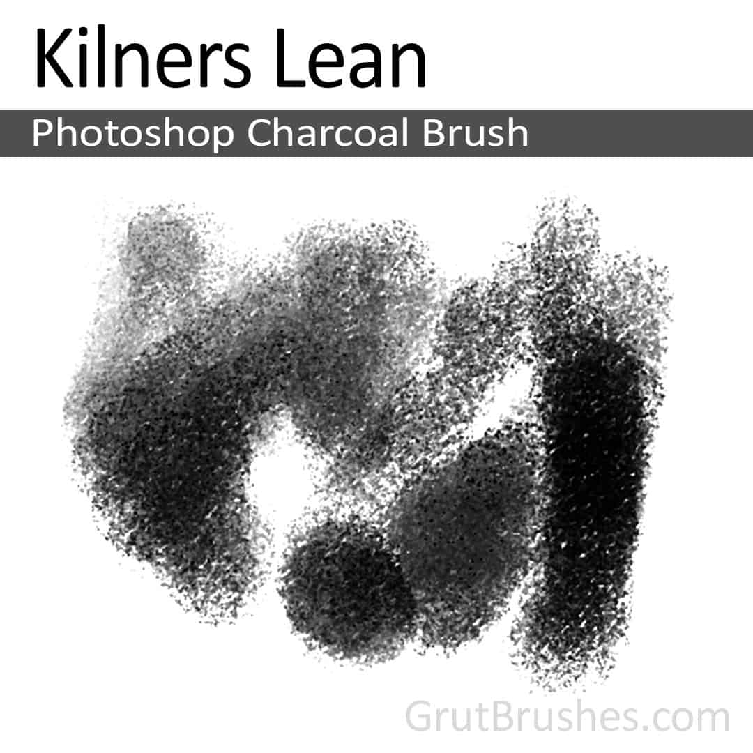 Photoshop Charcoal Brush 'Kilners Lean'