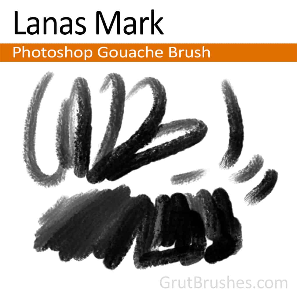 Photoshop Gouache Brush 'Lanas Mark'
