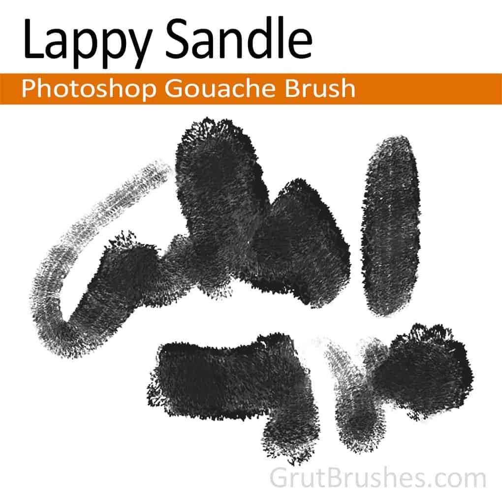 Photoshop Gouache Brush 'Lappy Sandle'