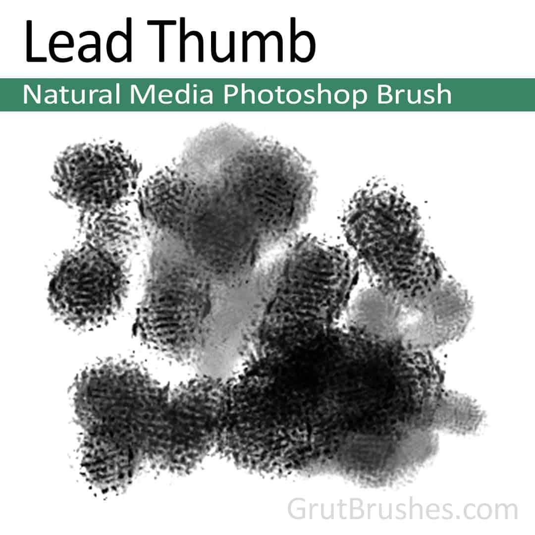 'Lead Thumb' Photoshop Natural Media Brush digital artist's toolset