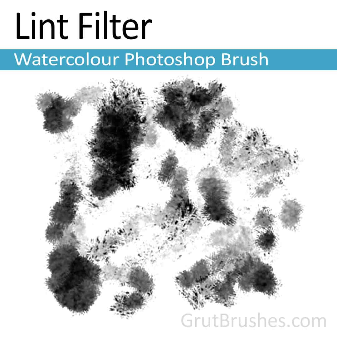 'Lint Filter' Photoshop watercolor brush for digital painting