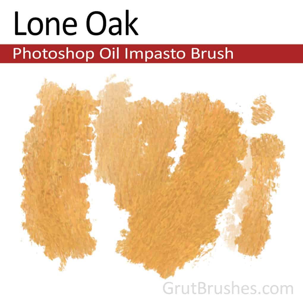 'Lone Oak' Impasto Oil Photoshop Brush for digital artists