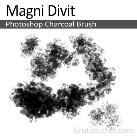 'Magni Divit' Photoshop Charcoal Brush