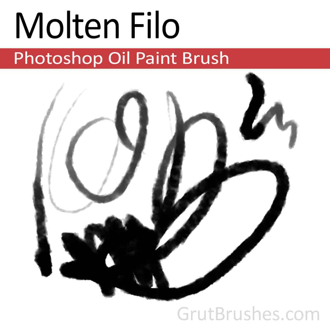 'Molten Filo' Photoshop Oil Brush digital artist's toolset