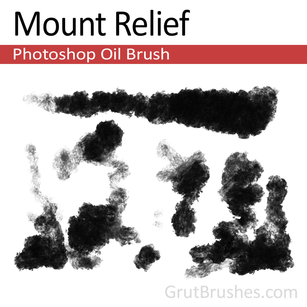 'Mount Relief' Photoshop oil brush for digital painting