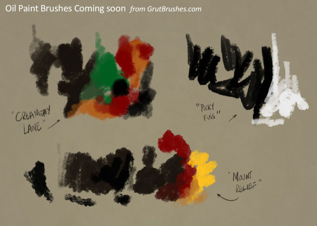 realistic Photoshop Oil Paint Brushes for digital painters