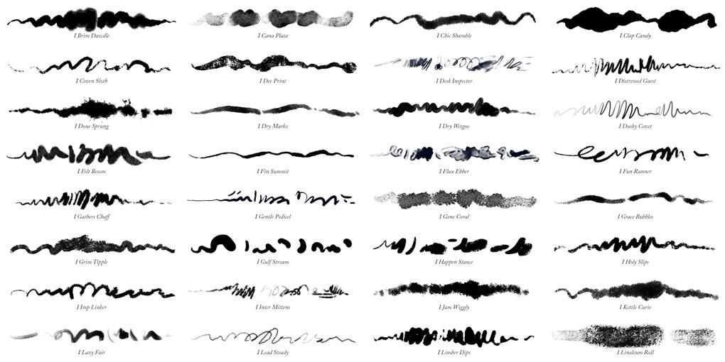 32 Photoshop ink brushes