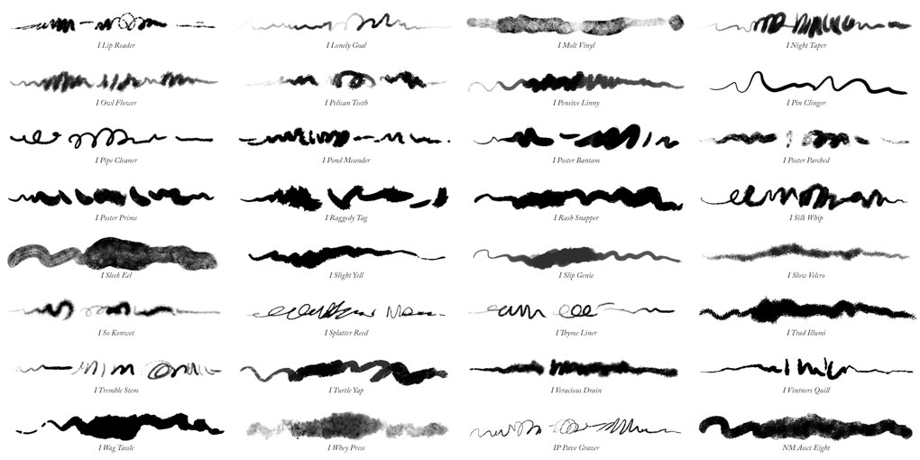 32 more Photoshop ink brushes