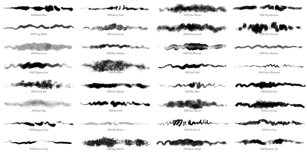 32 Photoshop Natural Media Brushes