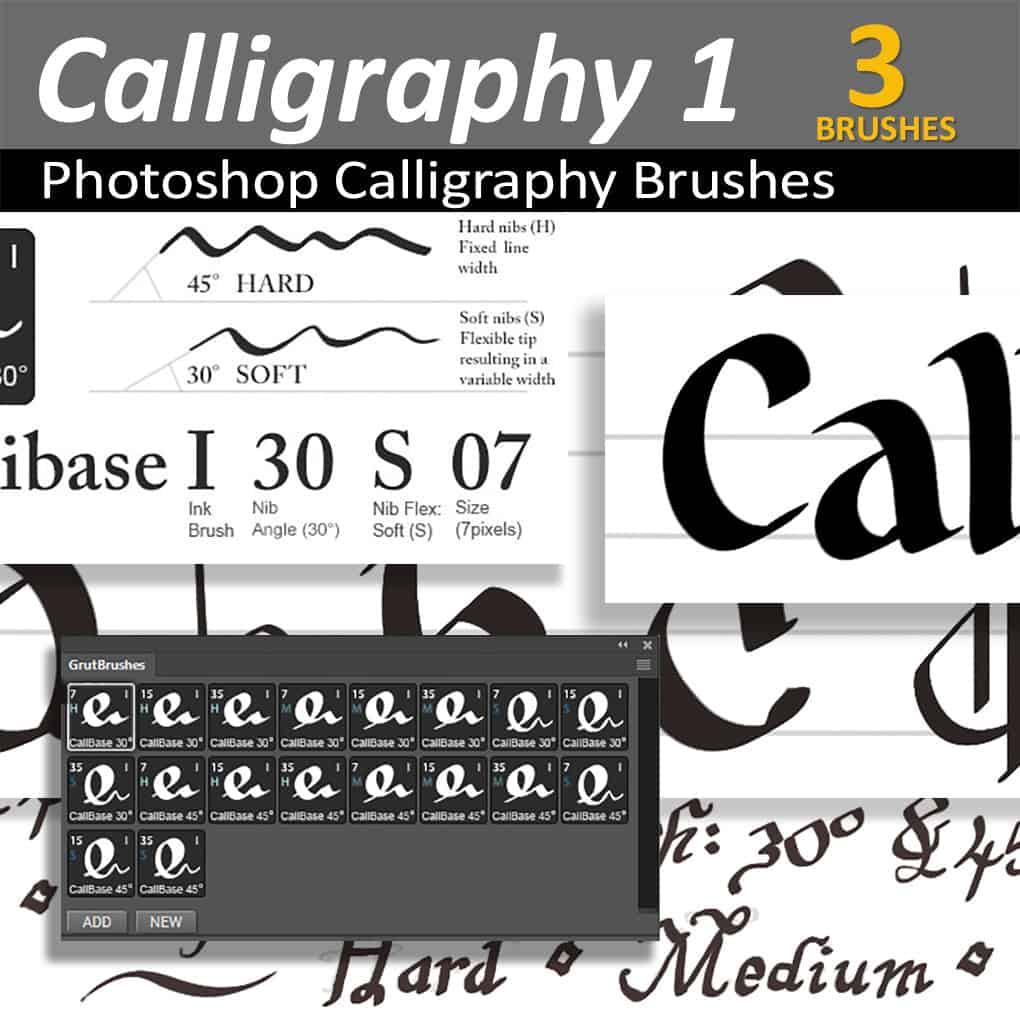 Photoshop Calligraphy Brushes