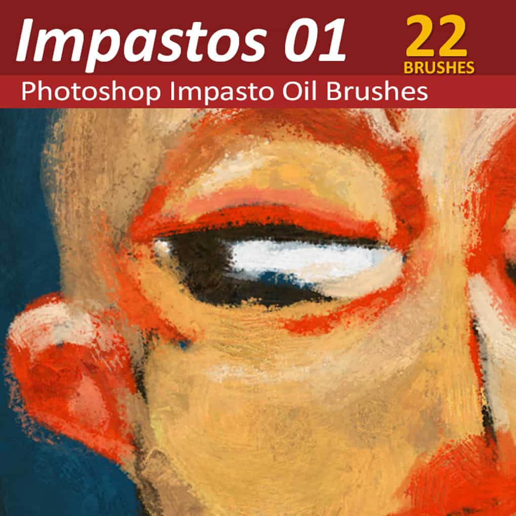 Photoshop Impasto oil brushes