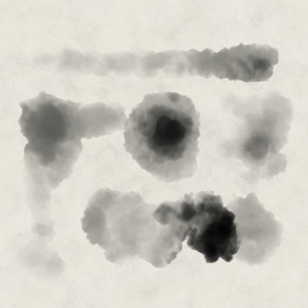 Photoshop Ink Wash Brush 'Mush Agog'