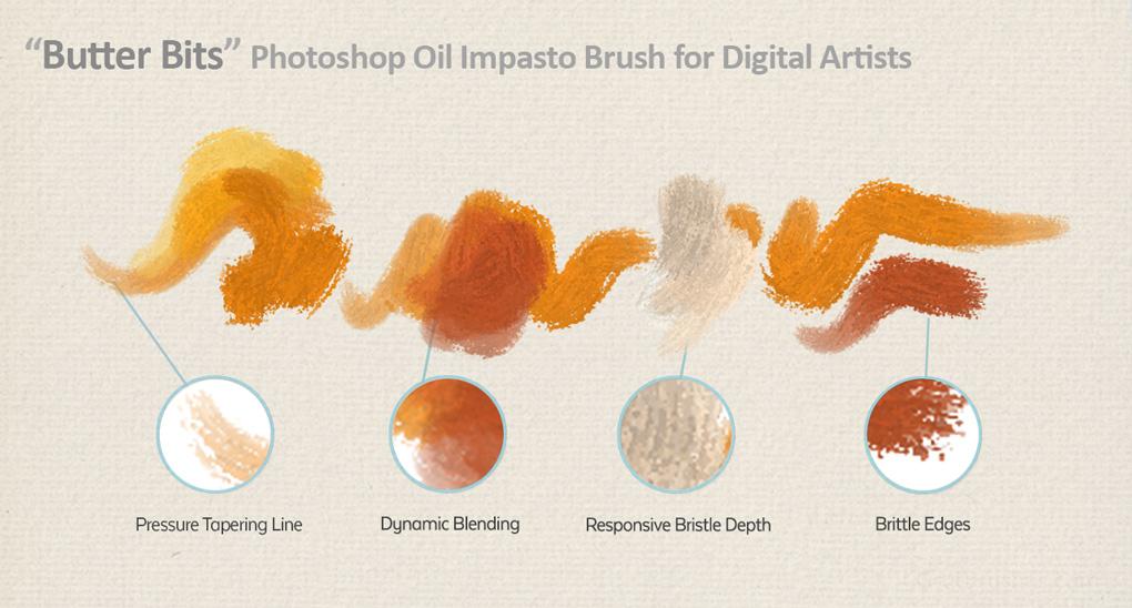 Free Photoshop oil brush