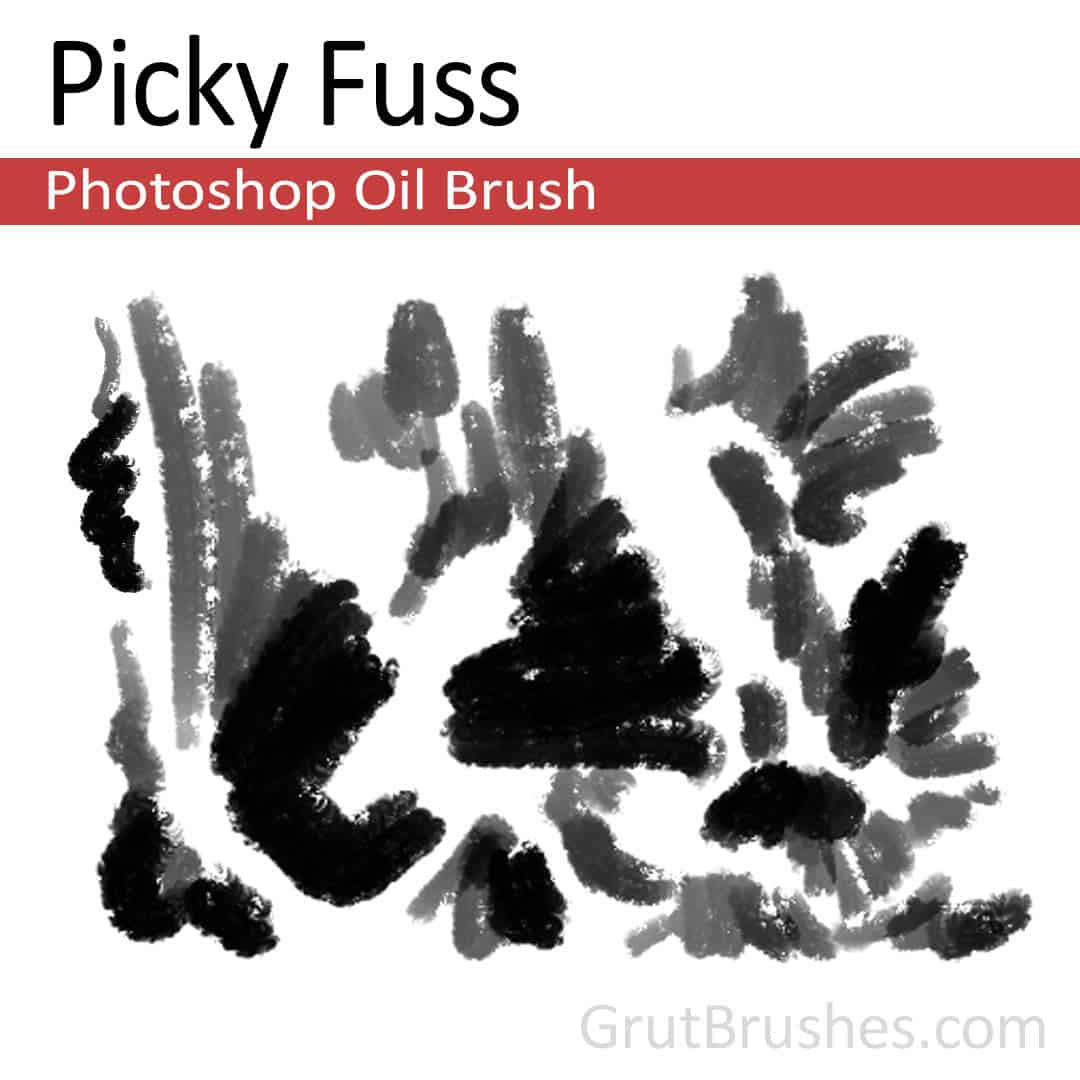 'Picky Fuss' Photoshop oil brush for digital painting