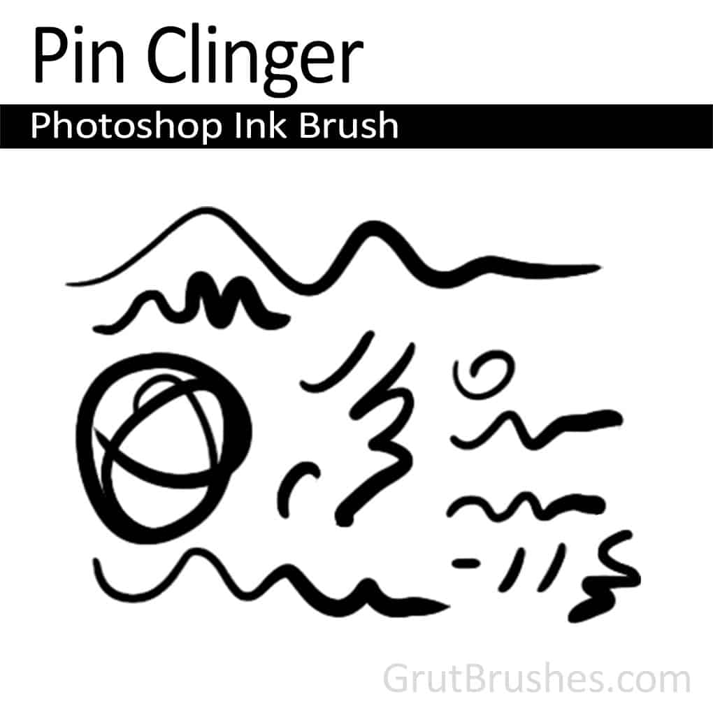 Photoshop Ink Brush 'Pin Clinger'