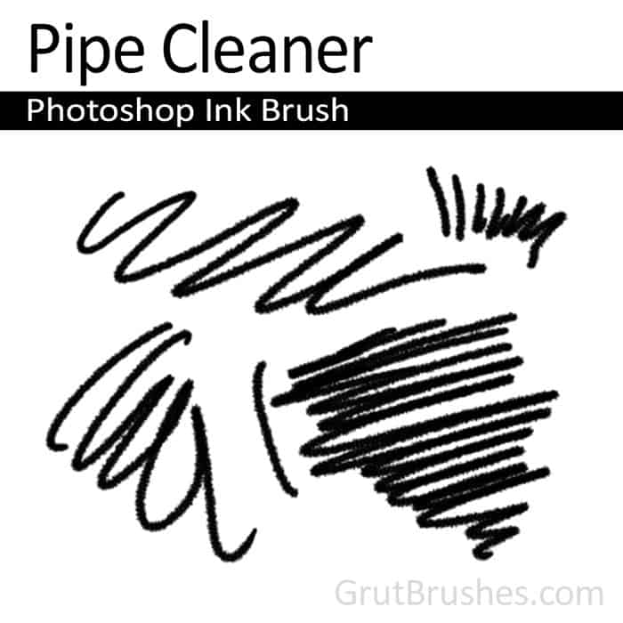 Pipe Cleaner - Photoshop Ink Brush