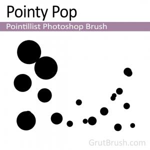 Dynamic pointillist Photoshop brsuh