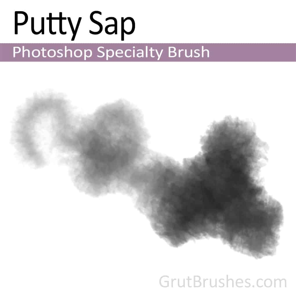 Photoshop Specialty Brush for digital artists 'Putty Sap'