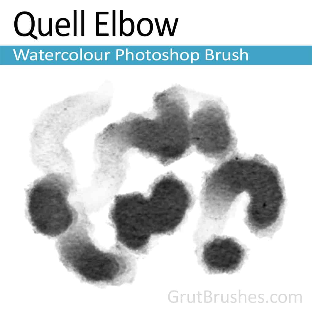 Photoshop Watercolor Brush 'Quell Elbow'
