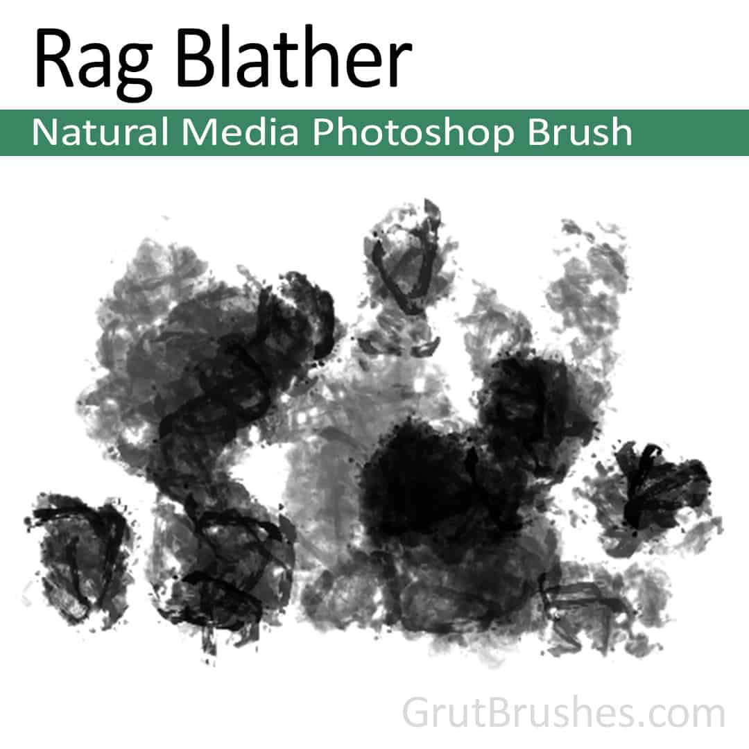 Photoshop Natural Media Brush 'Rag Blather'