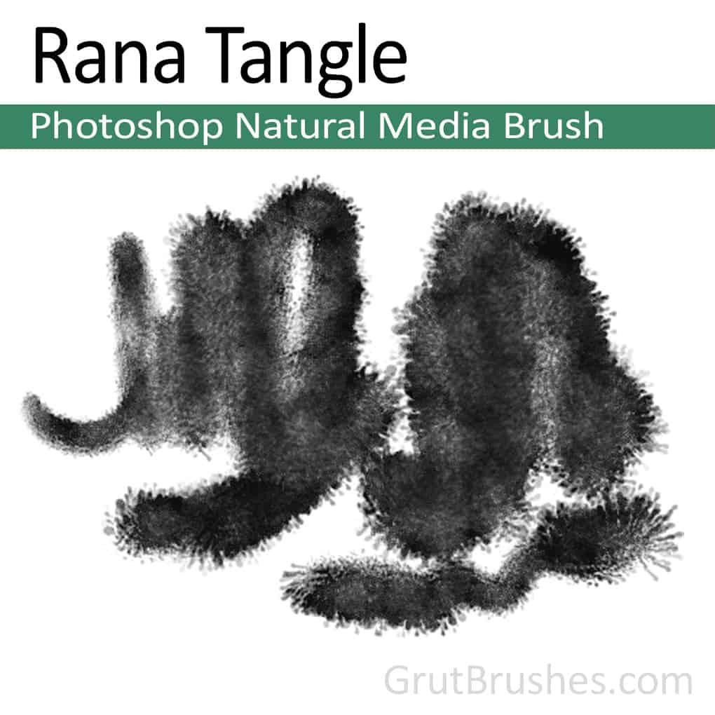 Photoshop Natural Media Brush 'Rana Tangle'