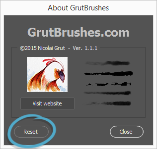 Reset all settings and remove all brushes