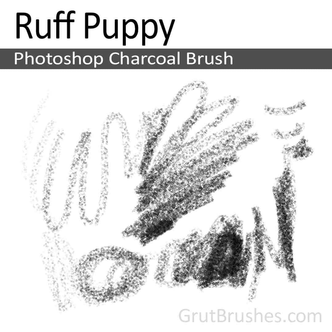 drawing with the Photoshop Charcoal Brush toolset 'Ruff Puppy' for digital artists