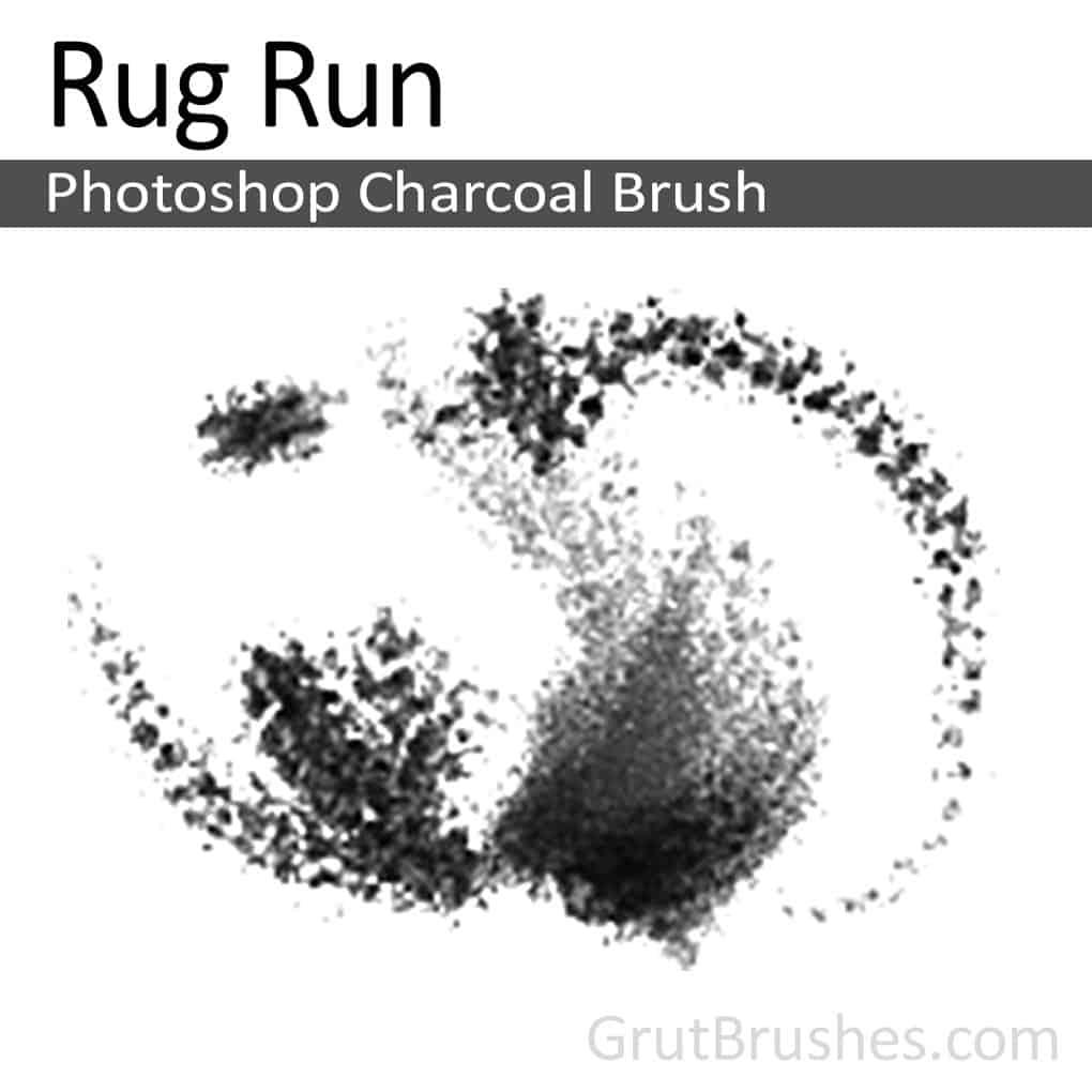 Photoshop Charcoal Brush 'Rug Run'