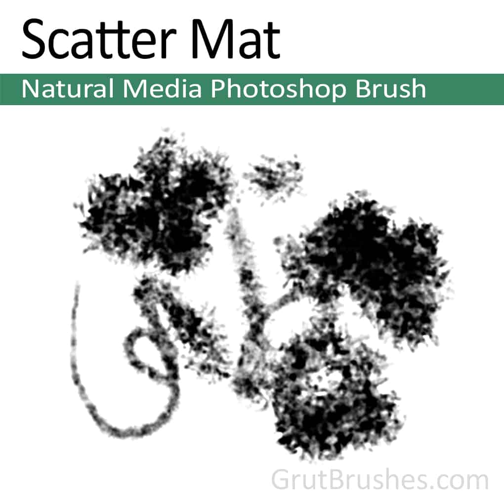 Photoshop Natural Media Brush 'Scatter Mat' A digital artist's tool preset