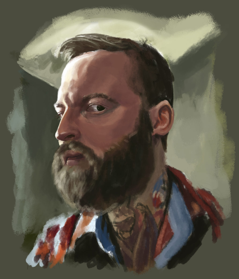 Painted by Andy Barrett in Photoshop using GrutBrushes Oil Paints