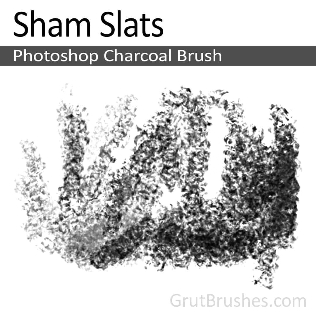 Drawing with the Photoshop Charcoal Brush toolset 'Sham Slats'