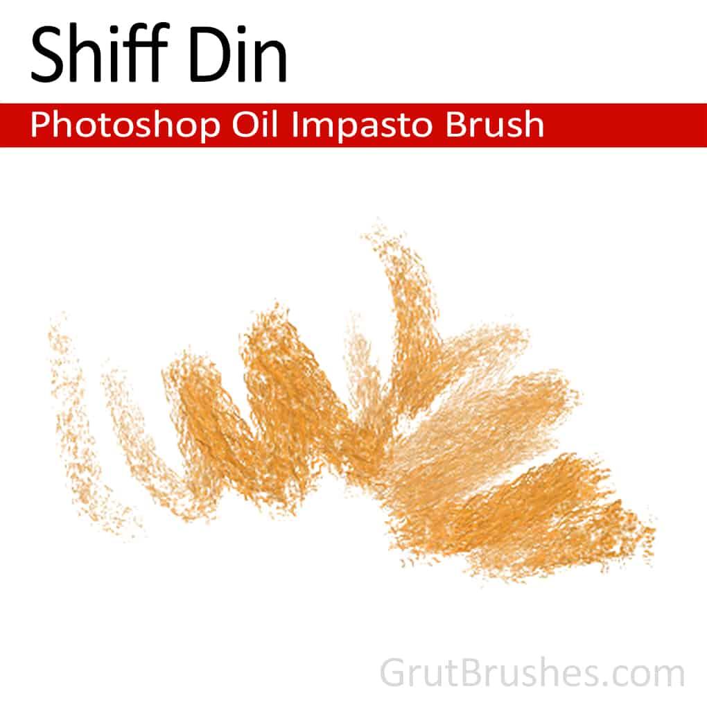 Photoshop Oil Impasto Brush for digital artists 'Shiff Din'