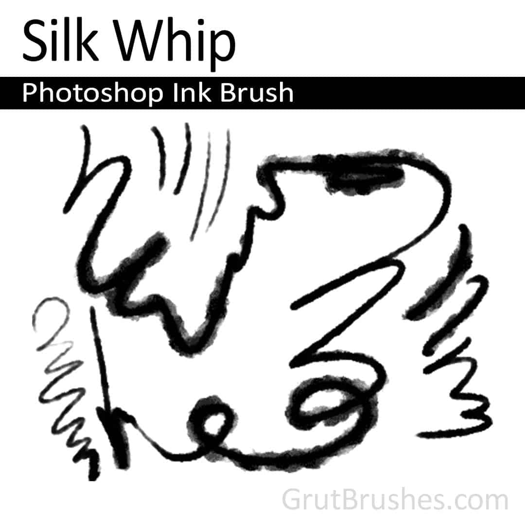 'Silk Whip' Photoshop Ink Brush for digital artists