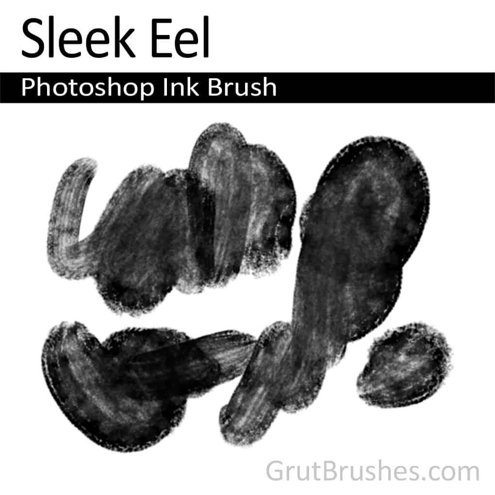 Photoshop Ink Brush 'Sleek Eel'