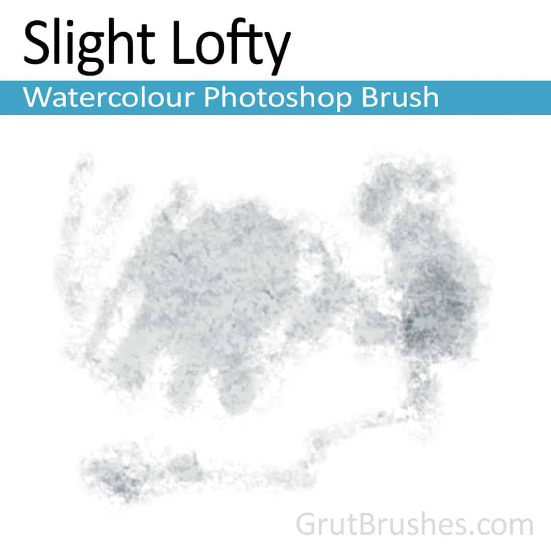 'Slight Lofty' Photoshop watercolor brush for digital painting