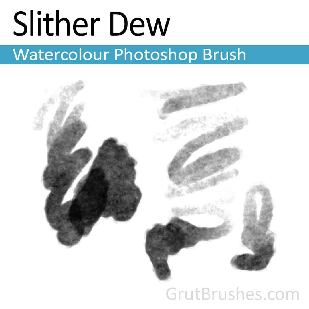 'Slither Dew' Photoshop watercolor brush for digital painting
