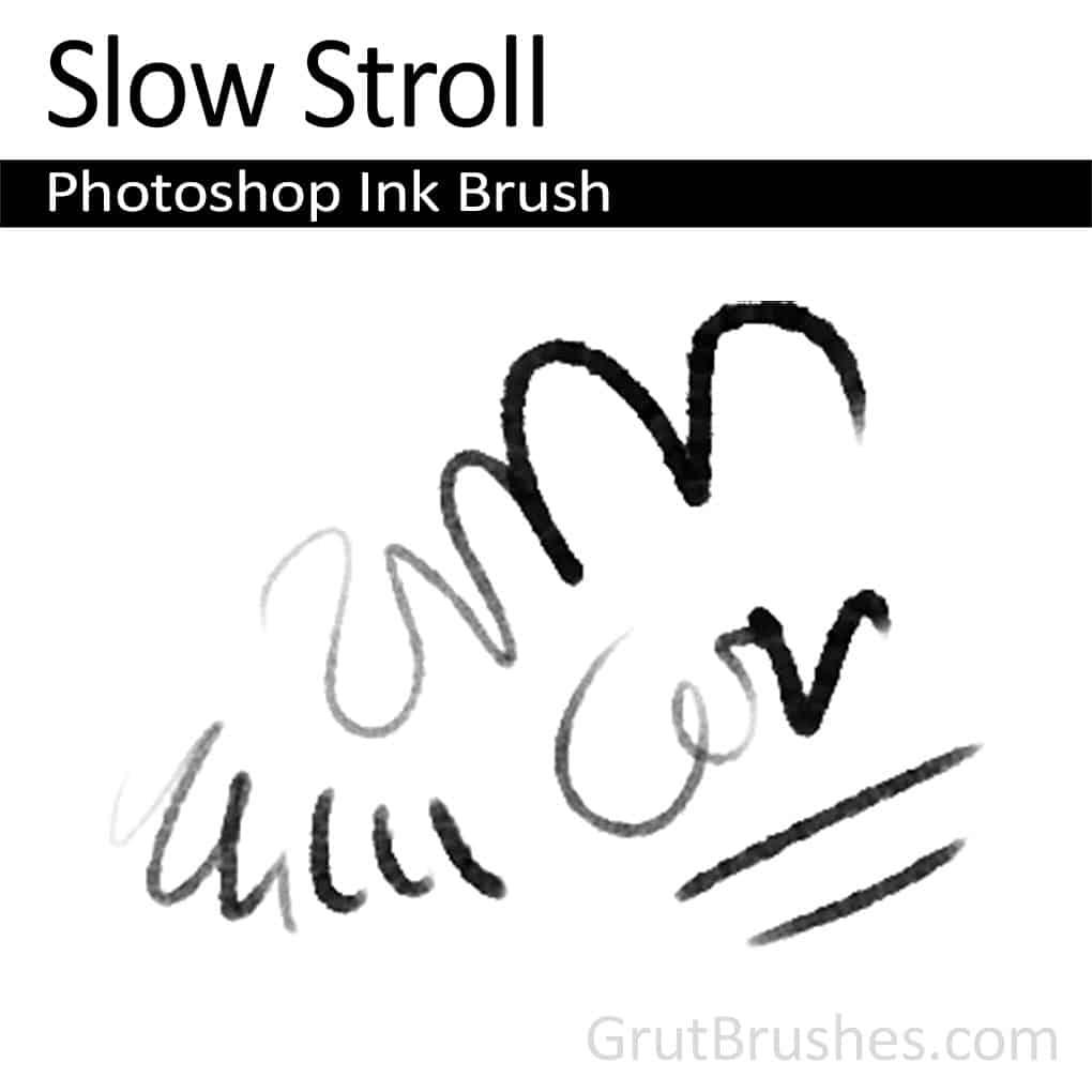 Photoshop Ink Brush for digital artists 'Slow Stroll'