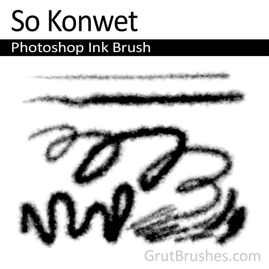'So Konwet' Photoshop Ink Brush for digital artists