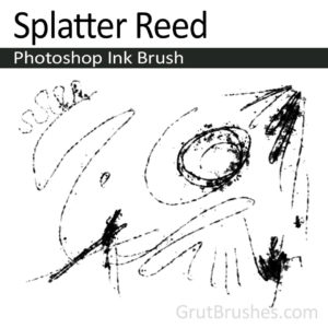 Splatter Reed Photoshop ink brush