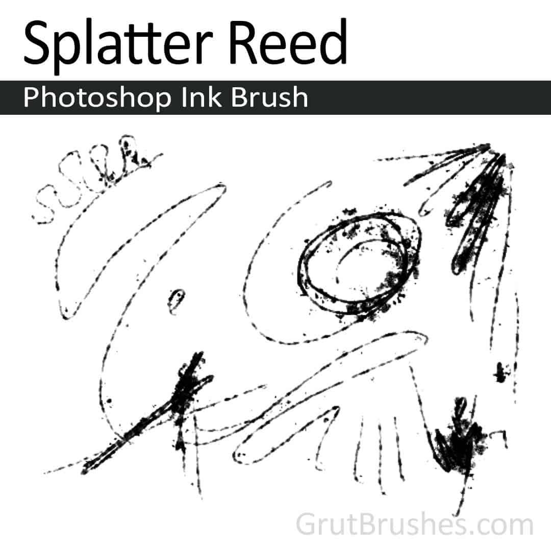 Splatter Reed Photoshop ink brush