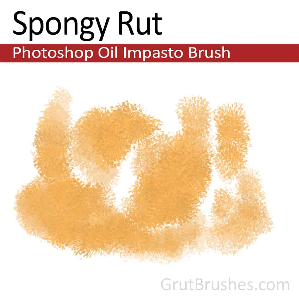'Spongy Rut' Photoshop Impasto Oil Brush for digital artists