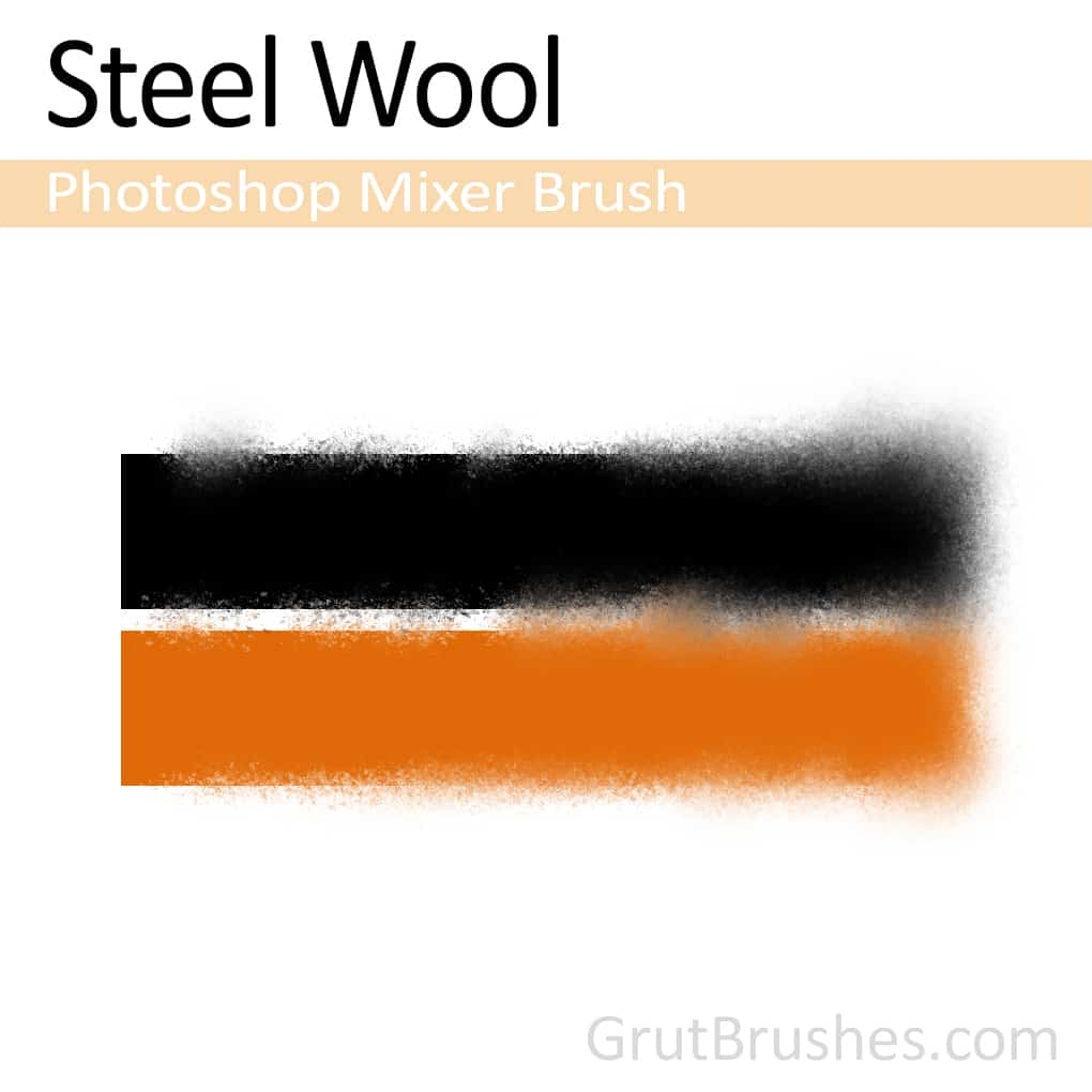 Photoshop Mixer brush Steel Wool