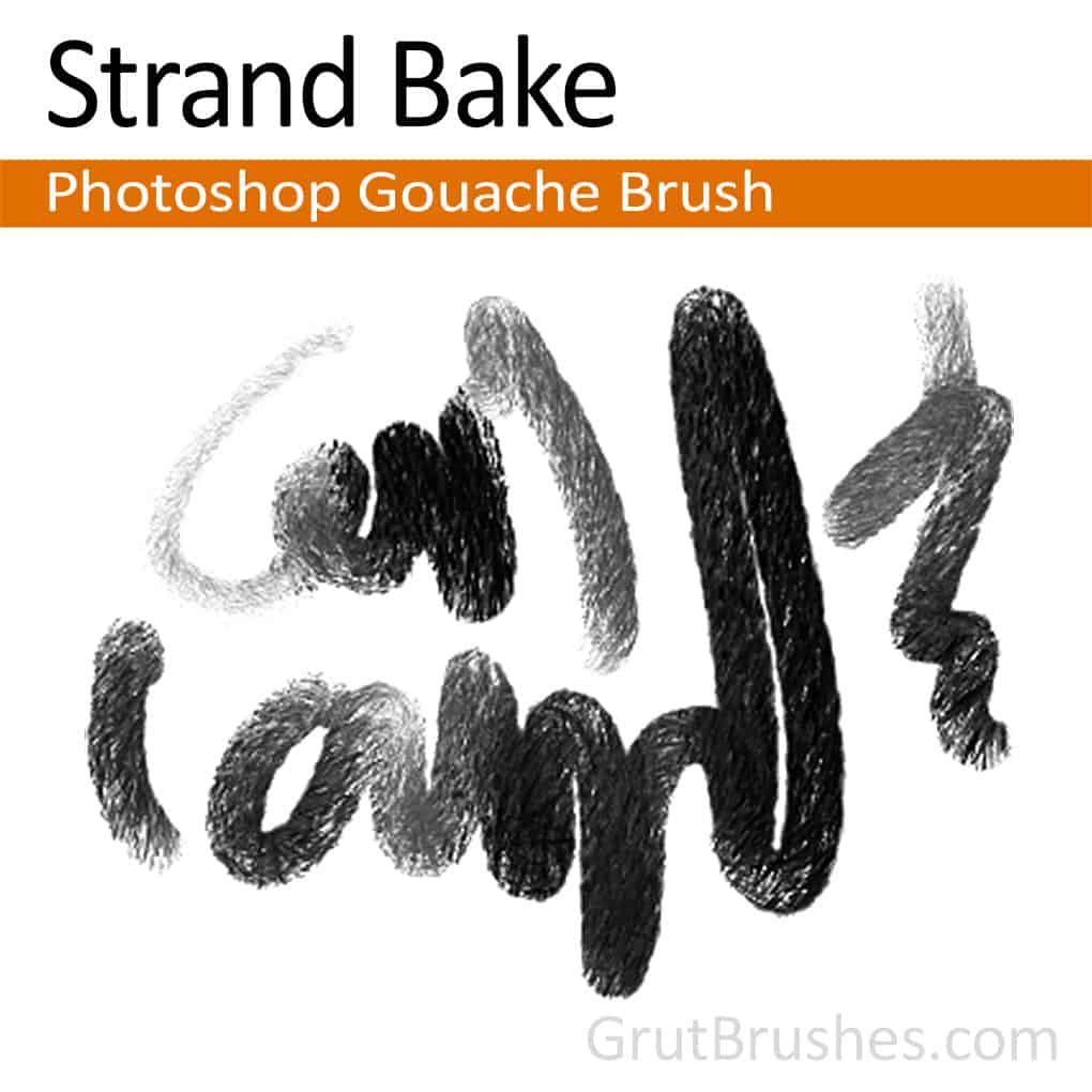 'Strand Bake' Photoshop Gouache Brush for digital artists