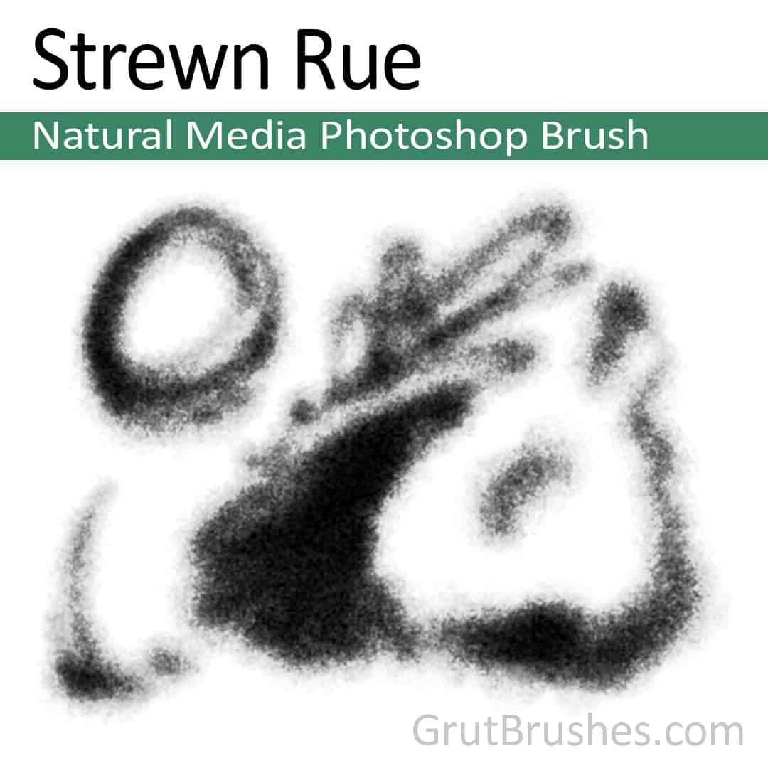 'Strewn Rue' Photoshop Natural Media Brush for digital artists