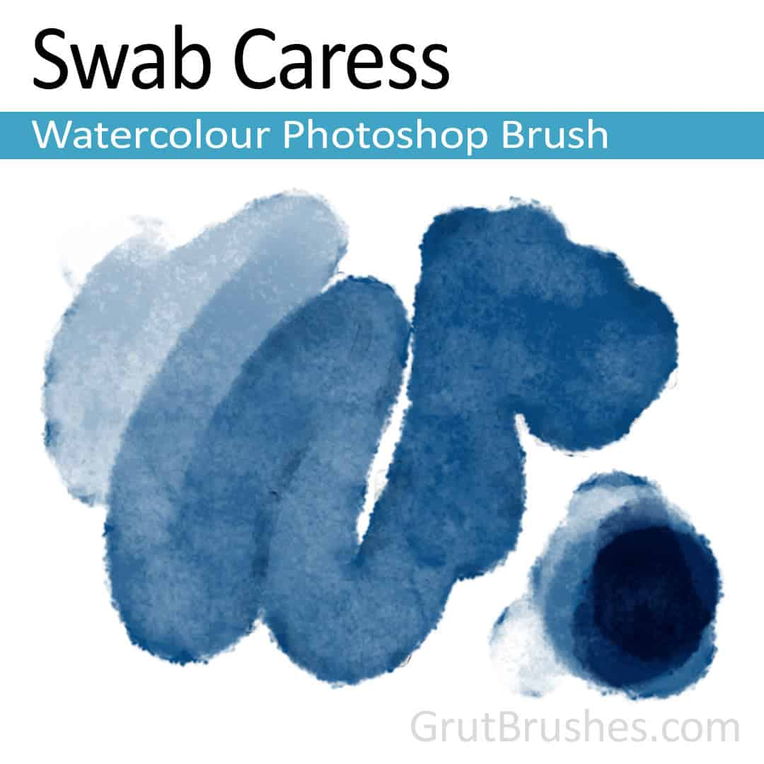 'Swab Caress' Photoshop watercolor brush for digital painting