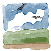 """digital watercolour painted with """"Swab Caress"""" brush for Photoshop"""